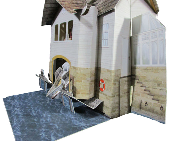 Santoro Pop Up Places 3D Greeting Card - Boat House - INPCreative - 2