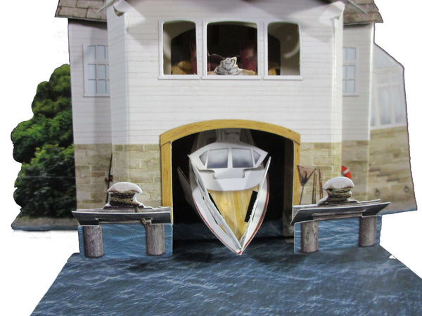 Santoro Pop Up Places 3D Greeting Card - Boat House - INPCreative - 3