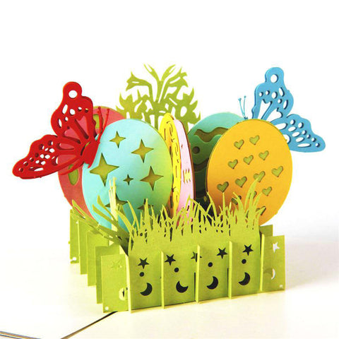 3D Pop Up Greeting Card - Easter Eggs