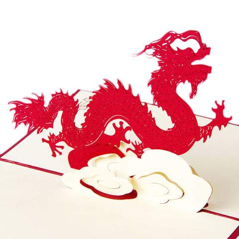 3D Pop Up Greeting Card - Chinese Dragon - INPCreative - 1