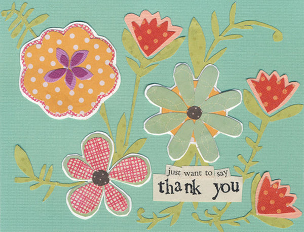 Curly Girl Design Thank You Note Cards - Just Want To Say - INPCreative