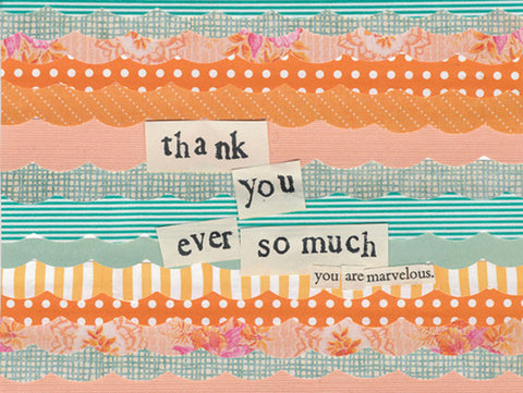 Curly Girl Design Thank You Note Cards - Ever So Much - INPCreative