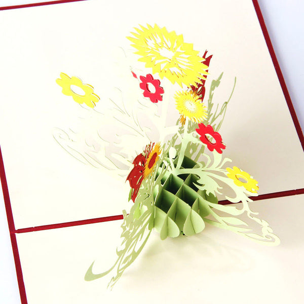3D Pop Up Greeting Card - Sunflower - INPCreative - 3