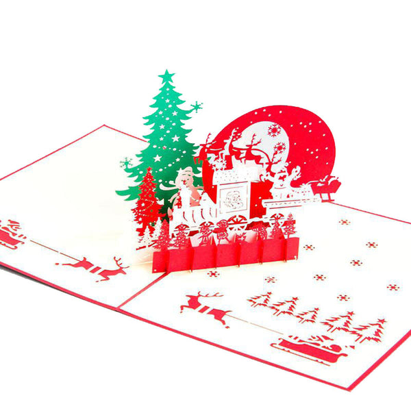 3D Pop Up Christmas Card - Christmas Eve - INPCreative - 3