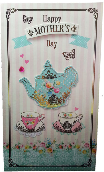"12"" Tall Extra Large Mothers Day Card - Happy Mother's Day Teapot - INPCreative - 1"
