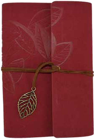 "Red Leaf Leather Journal 5"" x 7"" Refillable Unlined Pages - INPCreative - 1"