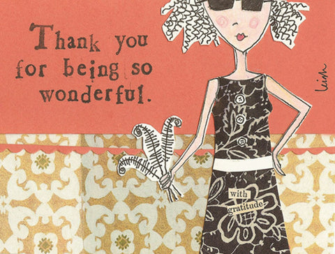 Curly Girl Design Thank You Note Cards - Wonderful - INPCreative