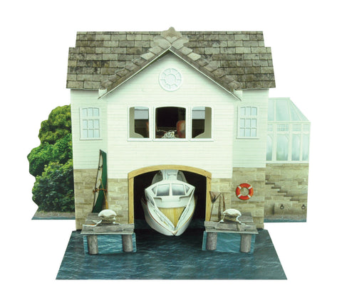 Santoro Pop Up Places 3D Greeting Card - Boat House - INPCreative - 1