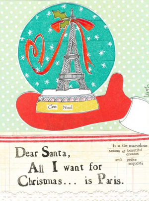 Box of 8 Christmas Cards & Envelopes - Curly Girl Design - Christmas In Paris - INPCreative - 1