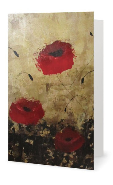 Blank Card - Poppies - INPCreative - 1