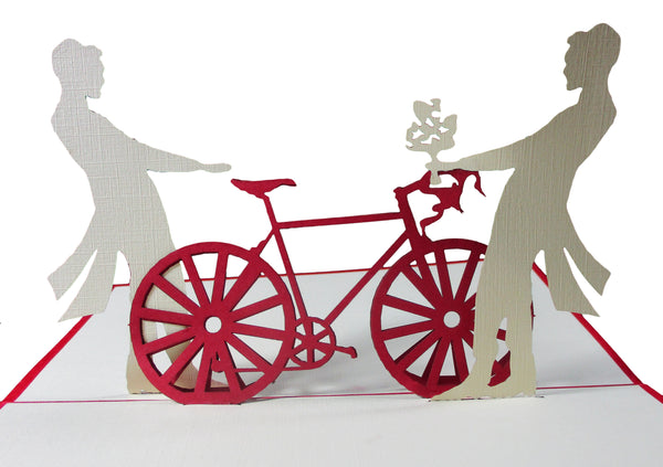 3D Pop Up Greeting Card - Victorian Couple Men