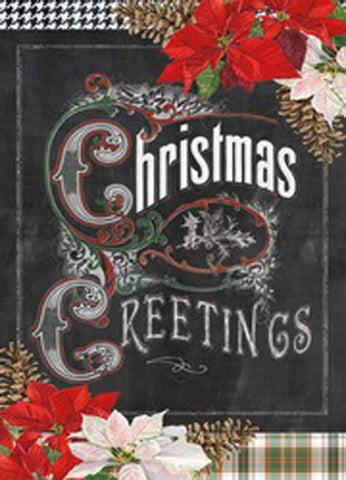 Box of 16 Christmas Cards - Christmas Greetings Chalkboard - INPCreative - 1