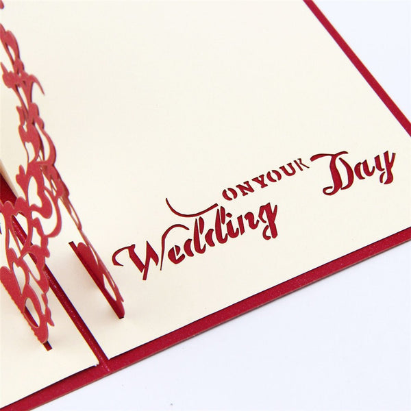 3D Pop Up Wedding Card - On Your Wedding Day