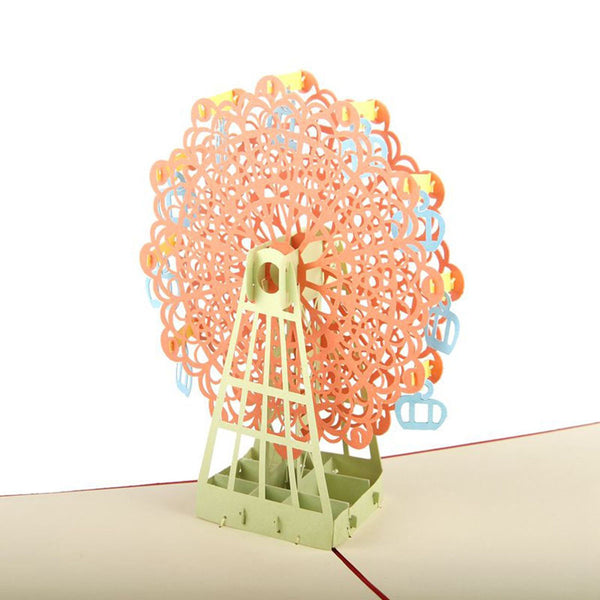 3D Pop Up Greeting Card - Ferris Wheel - INPCreative - 1