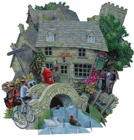 3D Pop Up Card - Cotswolds - INPCreative - 1