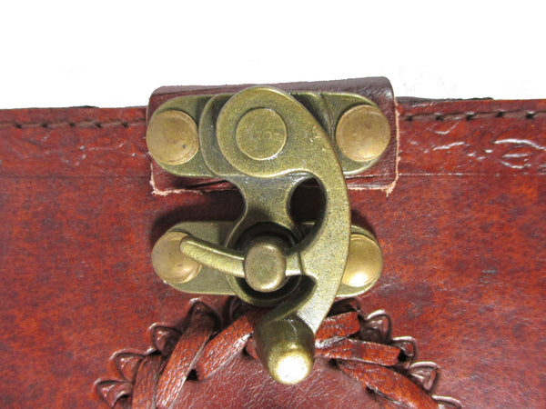 "Stone Eye Leather Blank Journal w/ Latch 5"" x 7"""