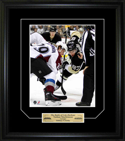 Sidney Crosby & Nathan Mackinnon - 8x10 & Plate Battle Of Cole Harbour