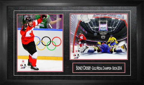 Sidney Crosby - Framed Double 8x10 2014 Olympics Team Canada Gold Medal