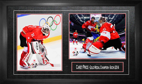 Carey Price - Framed Double 8x10 2014 Olympics Team Canada Gold Medal