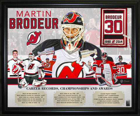 "Martin Brodeur - Framed 16x20"" Career Collage"