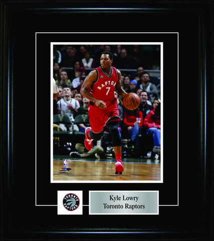 Kyle Lowry - Framed 8x10 Pin & Plate - Toronto Raptors Red Action