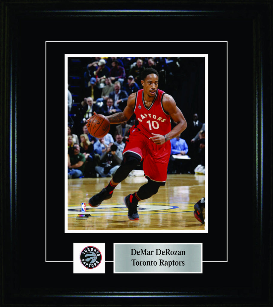 DeMar DeRozan - Framed 8x10 Pin & Plate - Toronto Raptors Red Action