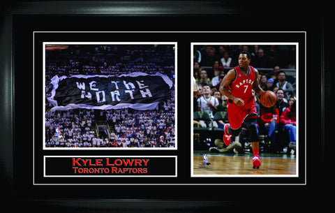 Kyle Lowry - Framed Double 8x10 Etched Mat