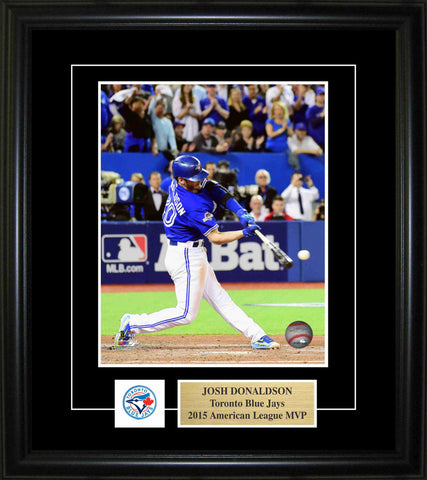 Josh Donaldson -  Framed 8x10 Pin & Plate - Toronto Blue Jays Action 2015 MVP