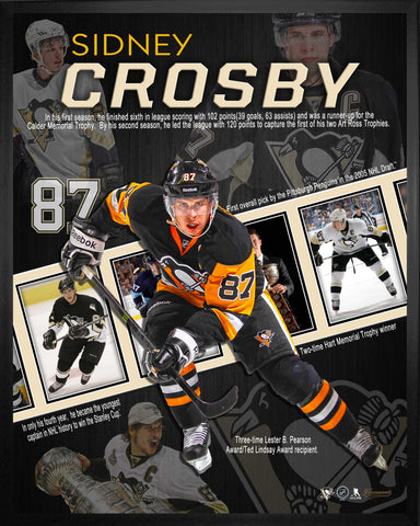 Sidney Crosby - Framed 16x20 Career Collage - Pittsburgh Penguins