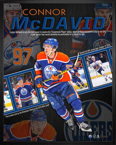 Connor McDavid - Framed 16x20 Career Collage - Edmonton Oilers