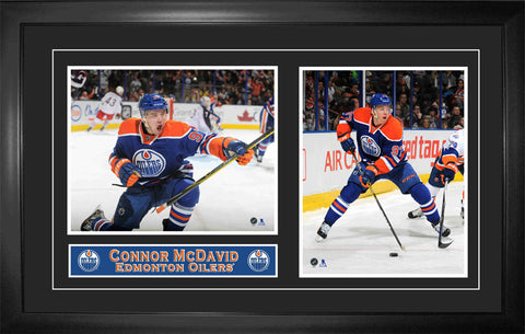 Connor McDavid - Framed Double 8x10 Etched Mat - Edmonton Oilers