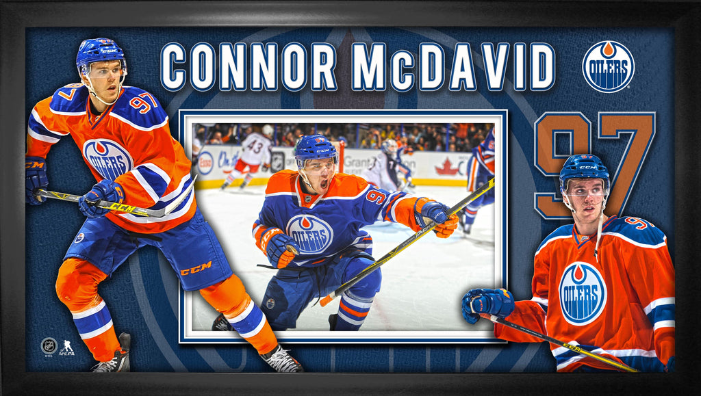 Connor McDavid - Framed 10x20 Edmonton Oilers Collage