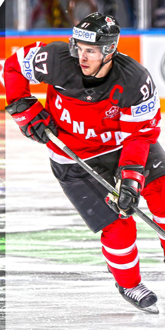 Sidney Crosby - 14x28 Team Canada Canvas