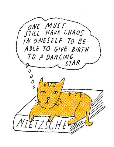 Philosopher Cat: Nietzsche