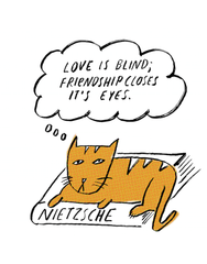 Metro Prints: Philosopher Cat