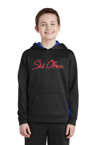 Ski Otters Youth Unisex Colorblock Hoodie