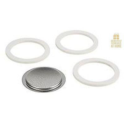 Espresso Stovetop 6c Replacement Seals Set/3 Sara Moka Absolutely Fabulous at Home