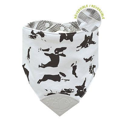 Bubbly Cotton Reversible Teething Bib -Dogs