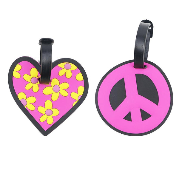 2-Piece Cute Luggage Name Tag (Rubber)