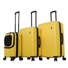Mia Toro Radial Hard Side Spinner Luggage 3PC Set-Mia Toro