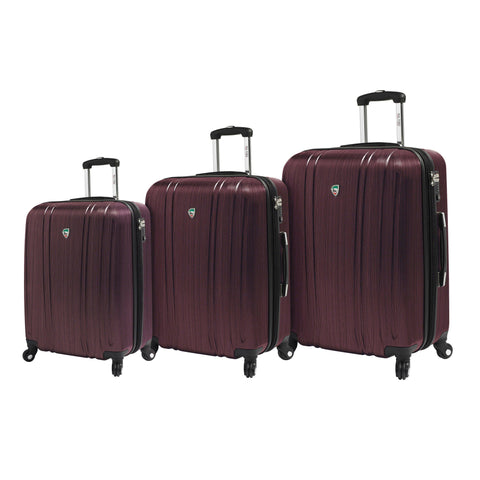 Acciaio Abrased Steel Hardside Spinner Luggage Set (3 Pieces)