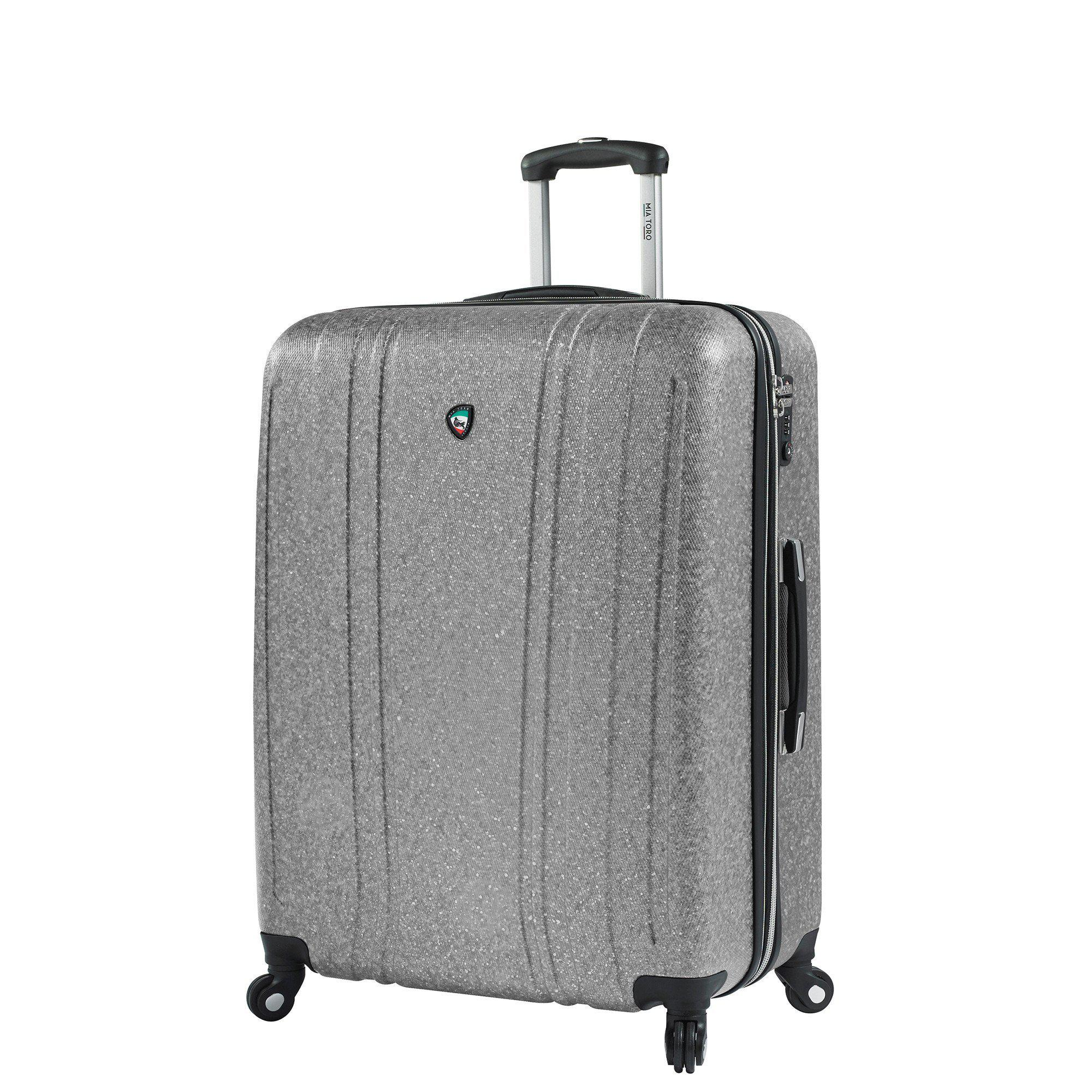 "Annata Acid Washed Texture Hardside 24"" Spinner Luggage"