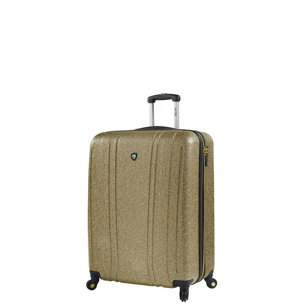 Annata Acid Washed Texture Hardside Spinner Carry On Luggage