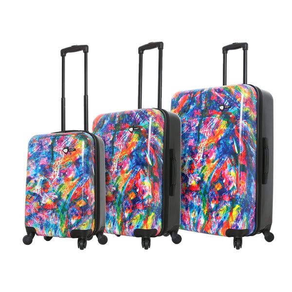 Duaiv Splash Colorful Luggage Set (3 Pieces)