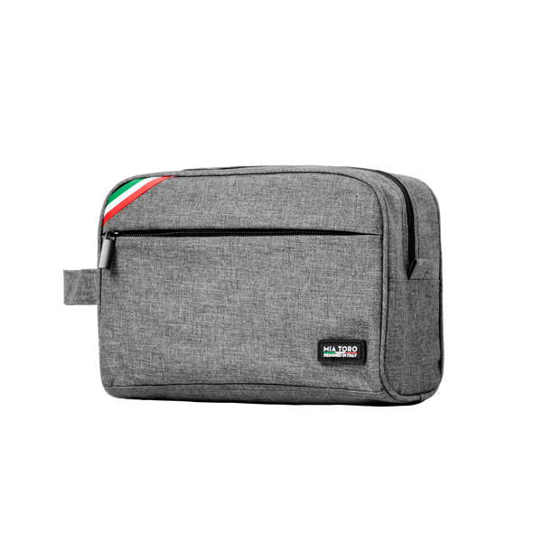 Grey Toiletry Bag From Mia Toro