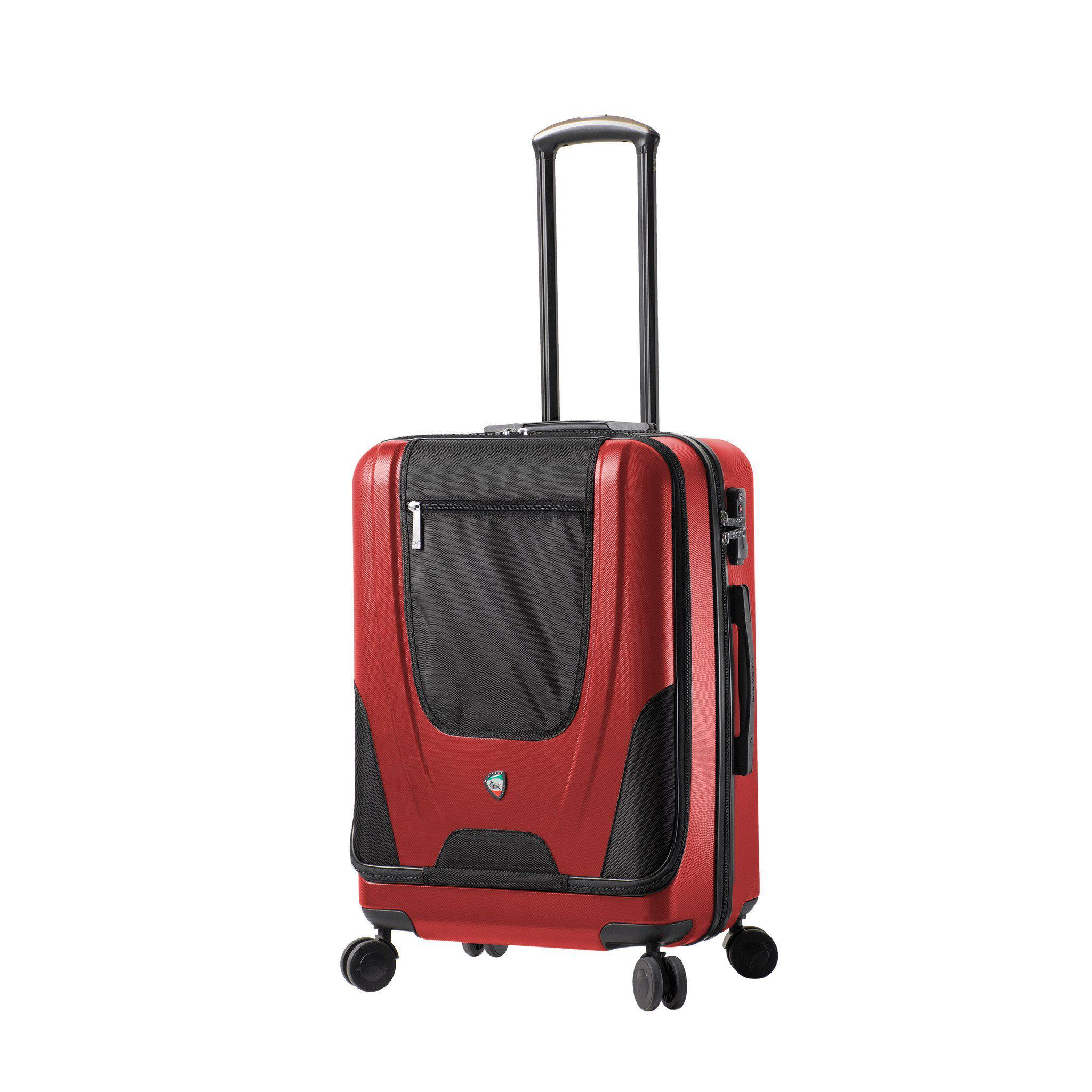 "Ibeido Hardside Fusion 24"" Spinner Luggage With Front Pocket"