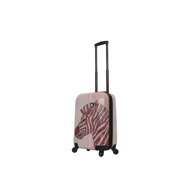 "Joao Wood Zebra 20"" Carry-On"