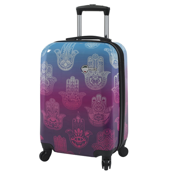 "Love This Life ""Hamsa"" Hardside Spinner Carry-on"