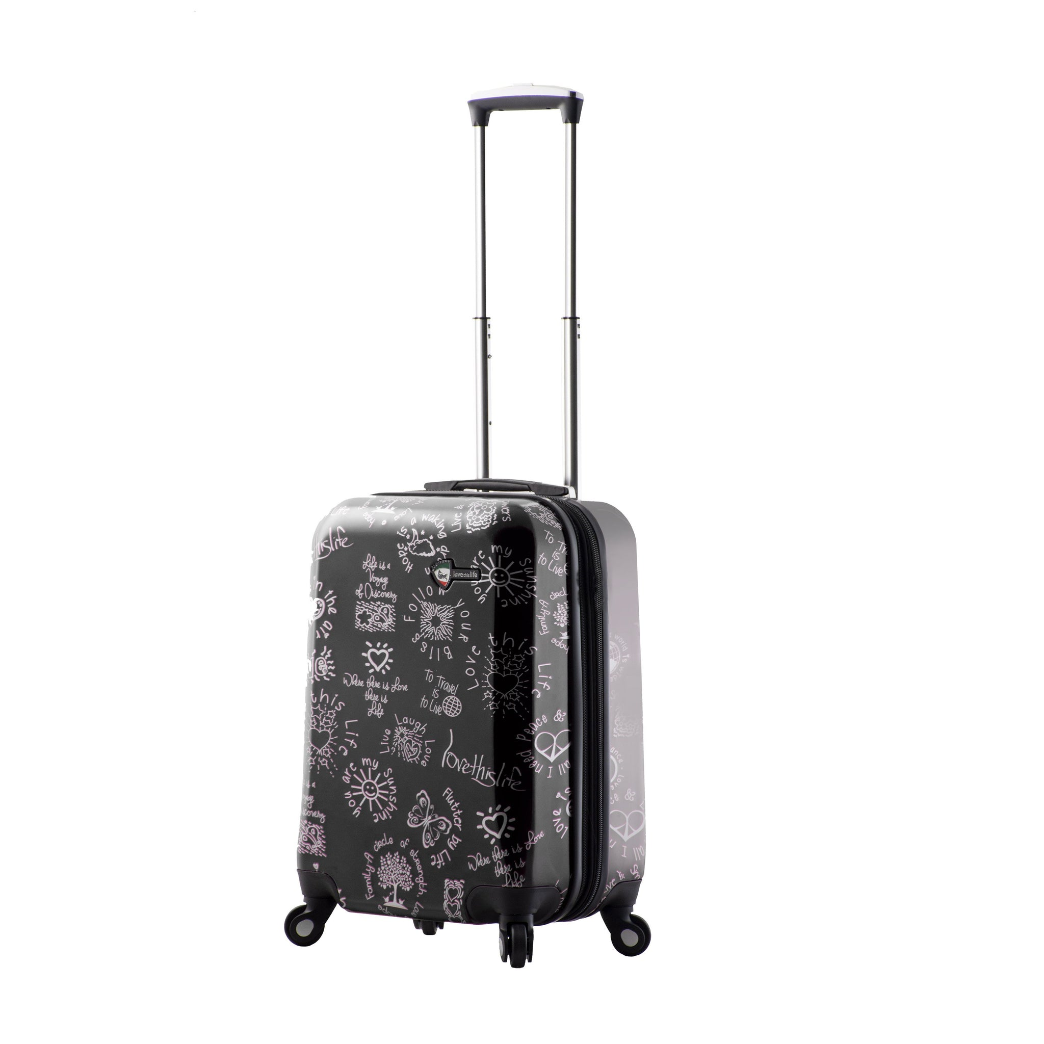 "Love This Life ""Medallions"" Hardside Spinner Carry-on"