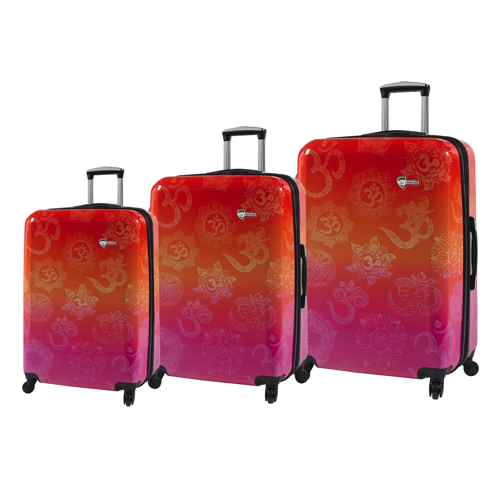 "Love This Life ""OM"" Hardside Spinner 3PC Set"